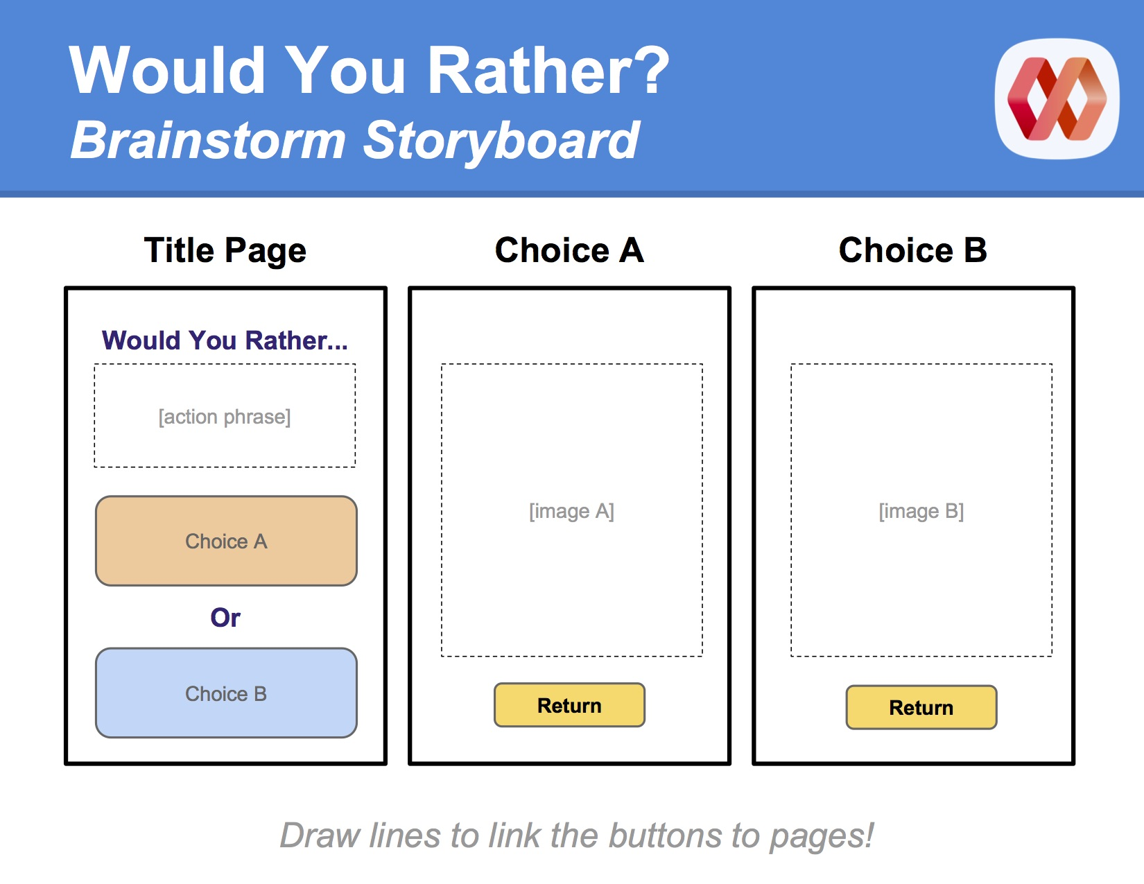 Would You Rather Storyboard Template